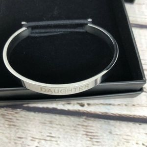 """Daughter"" Skinny Cuff Hair Tie Bangle"